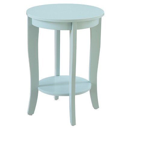 American Heritage Round End Table - Sea Foam - Johar Furniture - image 1 of 4
