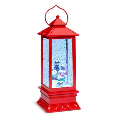 Best Choice Products Pre-Lit Battery Operated Glitter Snow Globe Christmas Lantern Holiday Decoration w/ Snowman