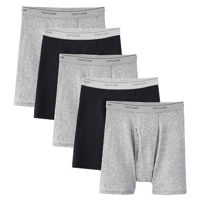 482c7ef567b320 Fruit of the Loom Men s 5pk Boxer Briefs – Black Gray S – Target ...
