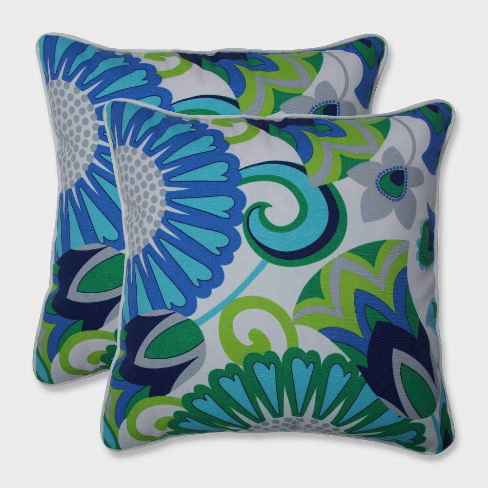 16.5 2pk Sophia Throw Pillows Green - Pillow Perfect