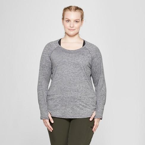 d64f5be1924a2 Women s Plus Size Long Sleeve Soft T-Shirt- C9...   Target