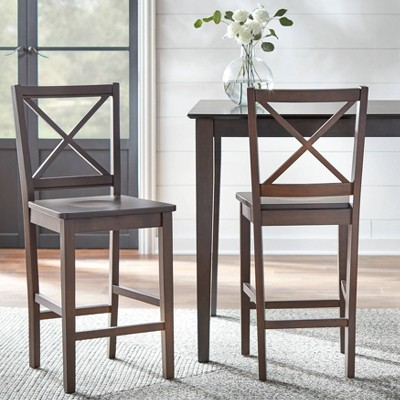 "Set of 2 30"" Virginia Cross Back Chairs - Buylateral"