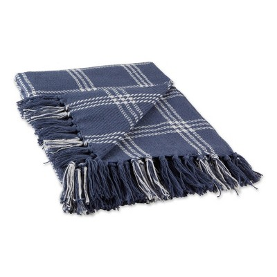 "50""x60"" Modern Farmhouse Plaid Throw Blanket - Design Imports"
