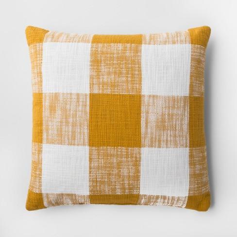 Plaid Throw Pillow Yellow Threshold