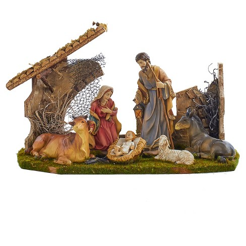 Holy Family Set with 6 Figures and Stable - image 1 of 1