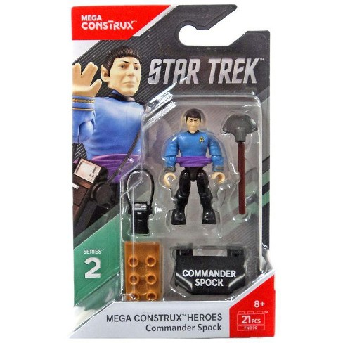 Mega Construx Heroes Star Trek Captain Kirk Commander Spock Series 2 Figures New