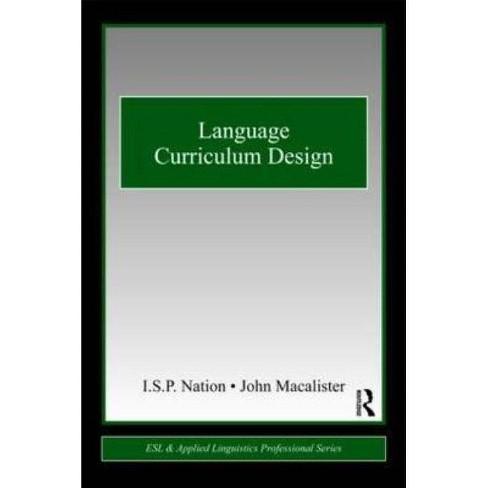 Language Curriculum Design - (ESL & Applied Linguistics Professional) (Paperback) - image 1 of 1