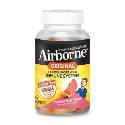 Airborne Original Immune Support Gummies - Assorted Fruit Flavors - 42ct