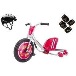 Razor Flash Rider 360 Drifting Ride-On Tricycle with Helmet, Elbow & Knee Pads