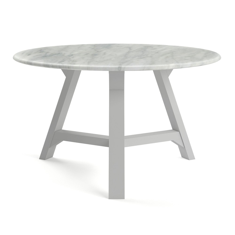 "Image of ""31.5"""" Aubrey Coffee Table with Faux Marble Top Gray - Aeon"""