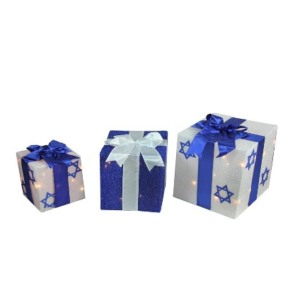Northlight 3-Piece Lighted White And Blue Hanukkah Gift Box Christmas Outdoor Decoration Set  Target  sc 1 st  Target & Northlight 3-Piece Lighted White And Blue Hanukkah Gift Box ...
