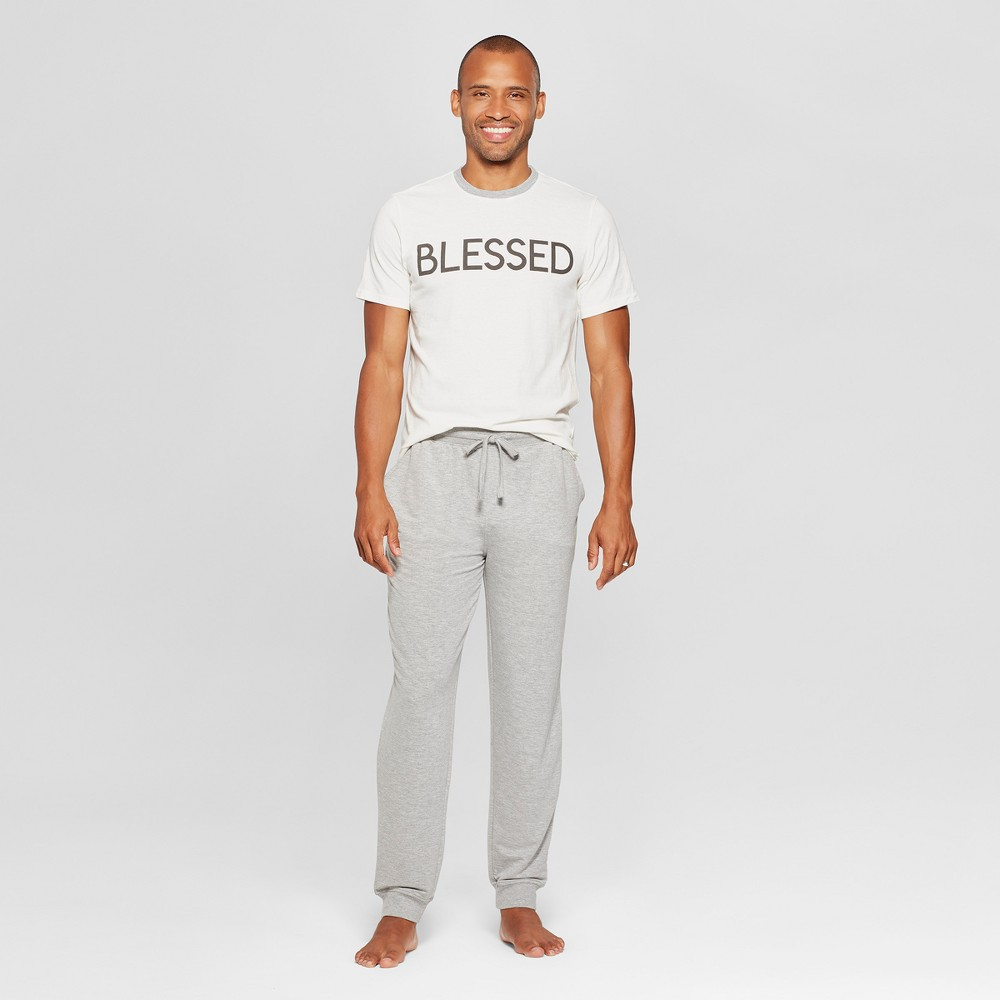 Weekend Soul Men's Blessed Pajama Set - Ivory L, White