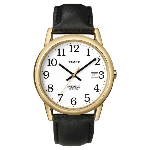 Men's Timex Easy Reader® Watch with Leather Strap - Gold/Black T2H2919J - image 1 of 1