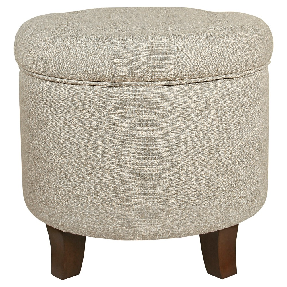 Boho Tufted Storage Ottoman Twine Light Brown - HomePop was $89.99 now $67.49 (25.0% off)