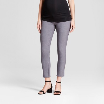 Inset Panel Ankle Skinny Maternity Trousers - Isabel Maternity by Ingrid & Isabel™