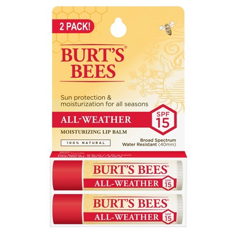 Burt's Bees Lip Balm - All-Weather SPF 15 - 0.15oz/2pk - image 1 of 3