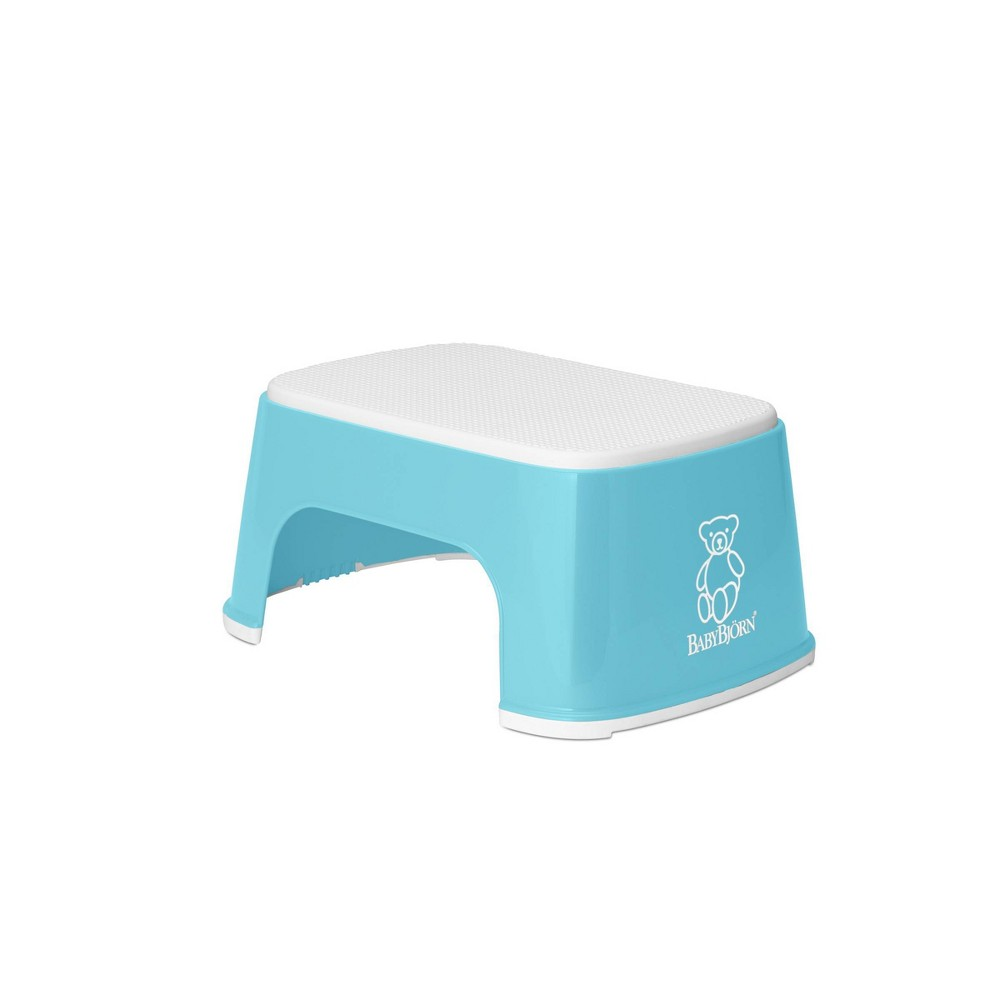 Image of BabyBjorn Safe Step Toilet Stool - Turquoise