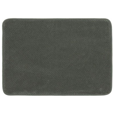 "17""x24"" Bubble Memory Foam Bath Rug Dark Gray - Threshold™"