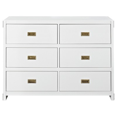 Baby Relax Miles Campaign Dresser - White