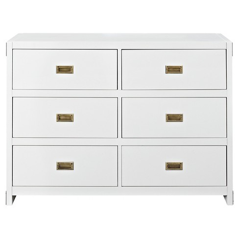 Baby Relax Georgia Campaign Dresser - White - image 1 of 4