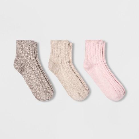 Women's Slub 3pk Ankle Socks - Universal Thread™ 4-10 - image 1 of 2