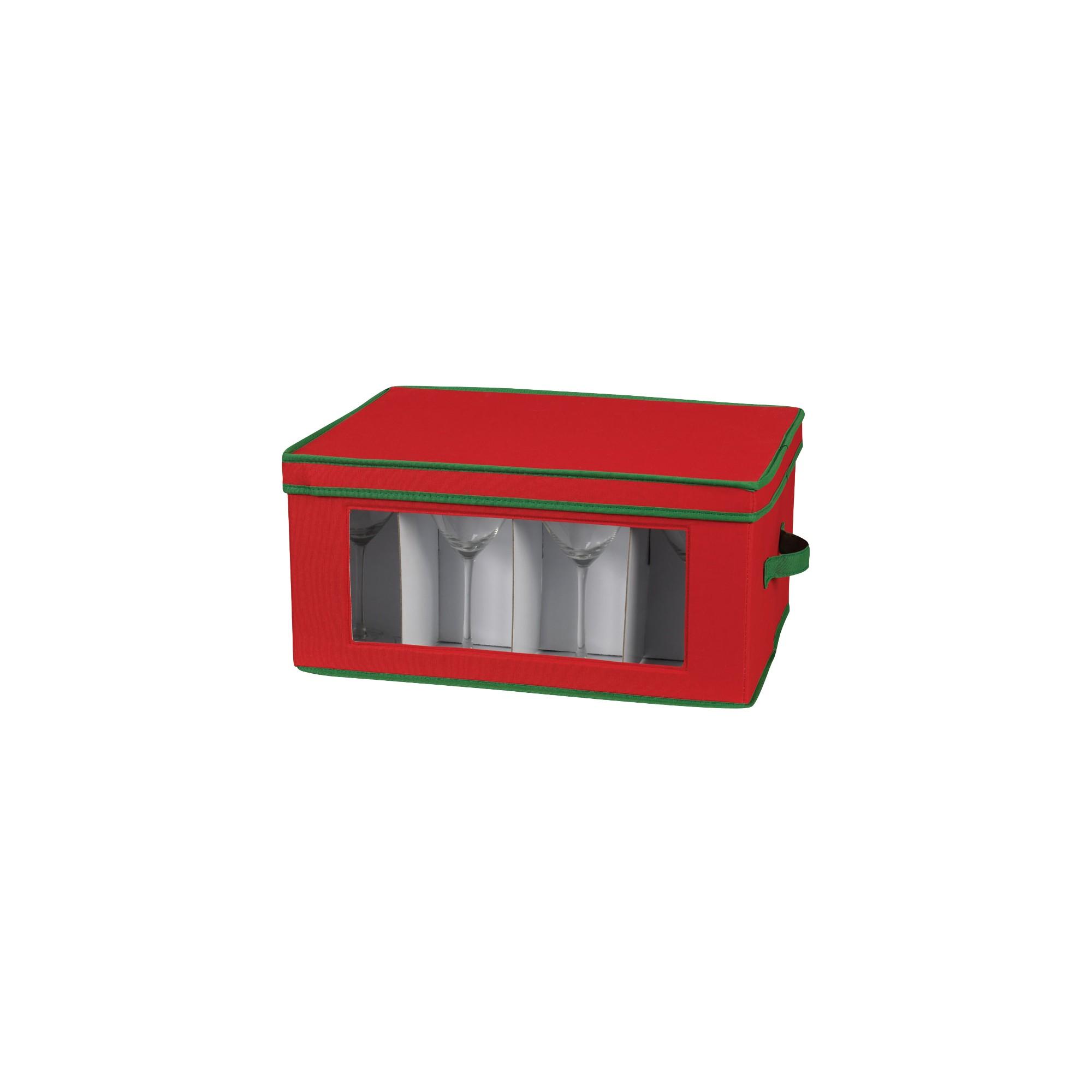 Household Essentials Holiday Goblet Stemware Storage