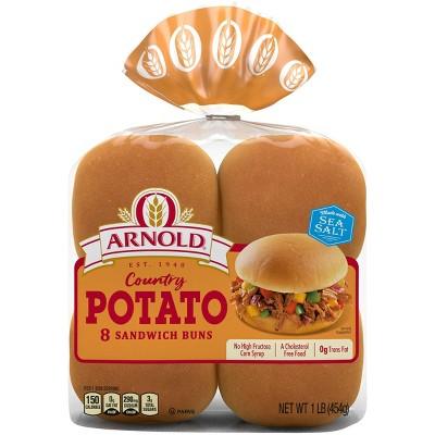Arnold Potato Hamburger Buns - 15oz/8ct