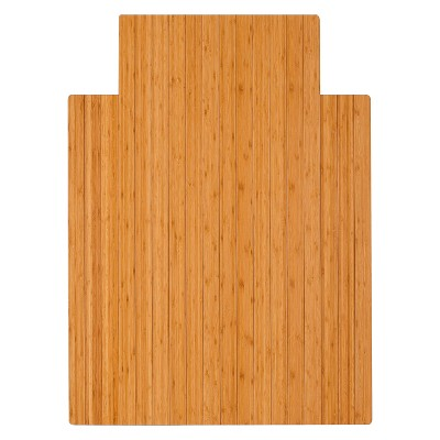 Bamboo Roll-Up Chairmat with Lip - Anji Mountain