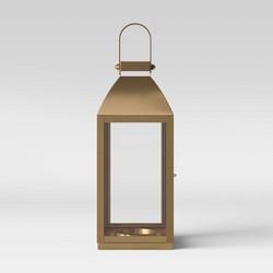 "16"" x 6.2"" Brass Lantern Candle Holder Gold- Threshold™"