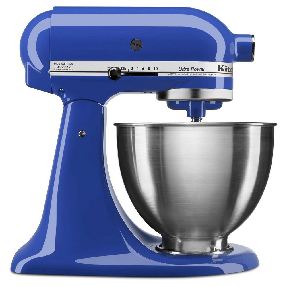 KitchenAid Ultra Power 4.5qt Stand Mixer Twilight Blue - KSM95TB Make up to 6 dozen cookies in a single batch with the KitchenAid Ultra Power Series 4.5 Quart Tilt-Head Stand Mixer. This mixer also features 10 speeds to thoroughly mix, knead and whip ingredients quickly and easily. For even more versatility, use the power hub to turn your stand mixer into a culinary center with over 10 optional hub powered attachments, from food grinders to pasta makers and more. Color: Twilight.