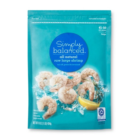 Raw Tail-Off Large Shrimp 41-50ct - Simply Balanced™ - image 1 of 3