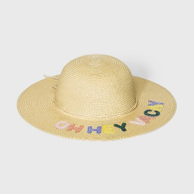 Girls' Floppy Hat - Cat & Jack™ Yellow