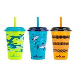 Reduce 12oz 3pk Plastic Go-Go Cups