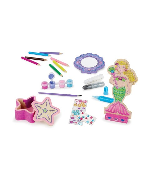 Melissa & Doug® Decorate-Your-Own Wooden Mermaid Doll Craft Kit - image 1 of 5