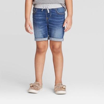 Toddler Girls' Pull-On Bermuda Jean Shorts - Cat & Jack™ Medium Wash