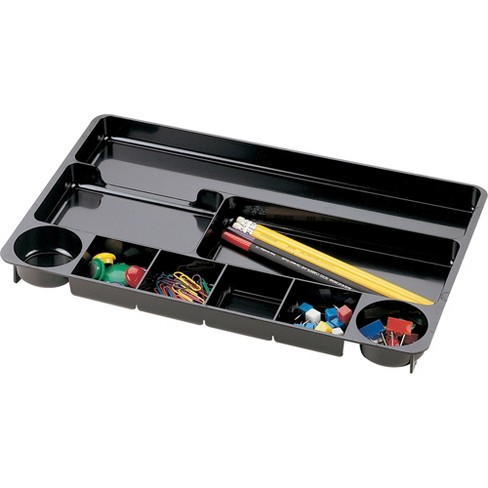 """Officemate Drawer Organizer Tray 9 Compartment 14""""x9""""x1-1/8"""" Black 21302 - image 1 of 1"""