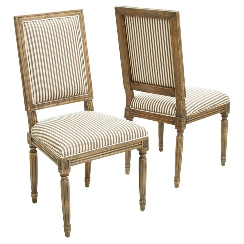 Madison Weathered Oak Dining Chairs - Dark Coffee (set of 2),Christopher Knight Home - image 1 of 4