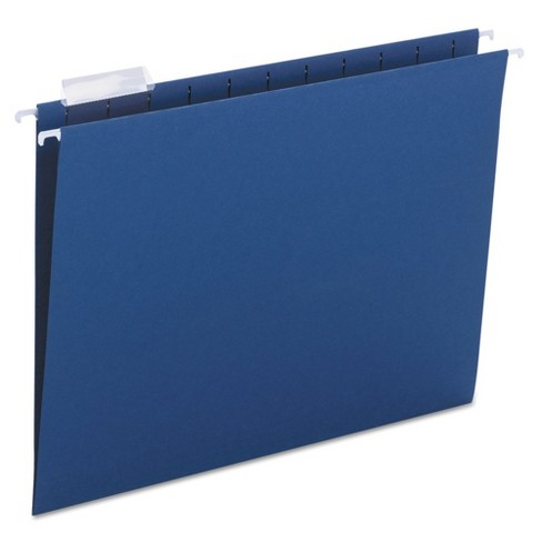 Smead® Hanging File Folders, 1/5 Tab, 11 Point Stock, Letter, Navy, 25/Box - image 1 of 2
