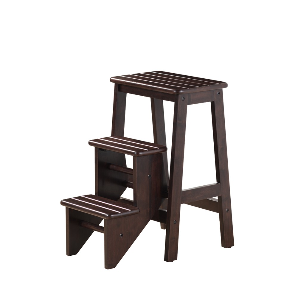 "Image of ""24"""" Boraam Industries Folding Step Stool - Cappuccino"""