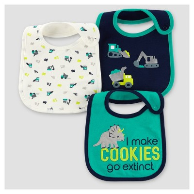 Baby Boys' 3pk Dinos Bib - Just One You™ Made by Carter's® Teal