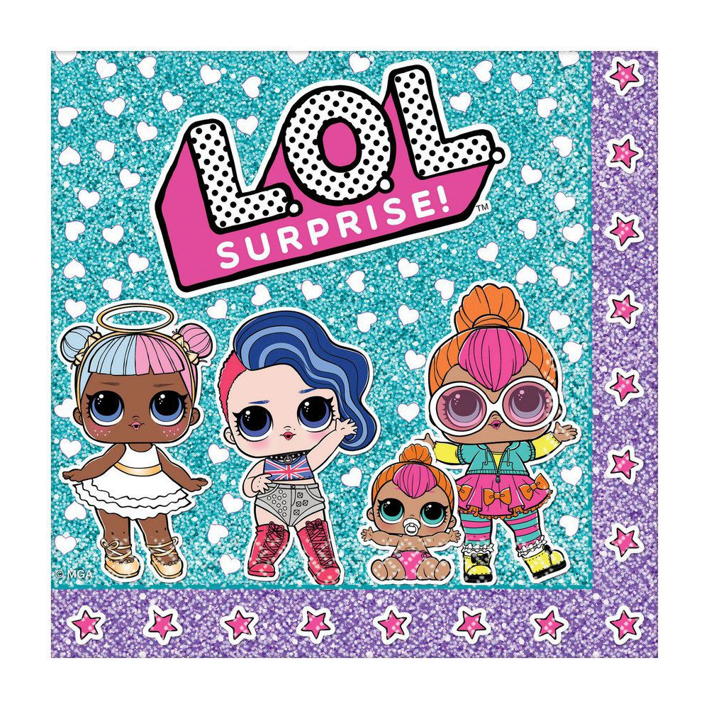 Image of L.O.L. Surprise! 16ct Lunch Napkins