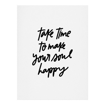 "8""x10"" Chelcey Tate Make Your Soul Happy Art Print Unframed Wall Poster White - Deny Designs"