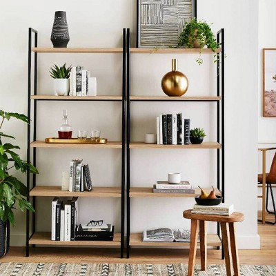 Functional Bookcase with Storage Shelves Collection