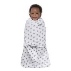 Halo Sleepsack Swaddle 100% Cotton Lamb Scribble - White Newborn
