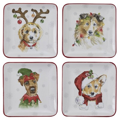 Park Designs Holiday Paws Salad Plate Set - White