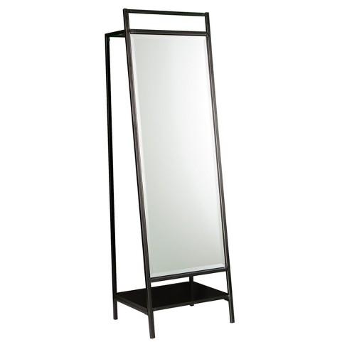 Drace Mirror/Hidden Coat Rack - Black - Aiden Lane - image 1 of 4