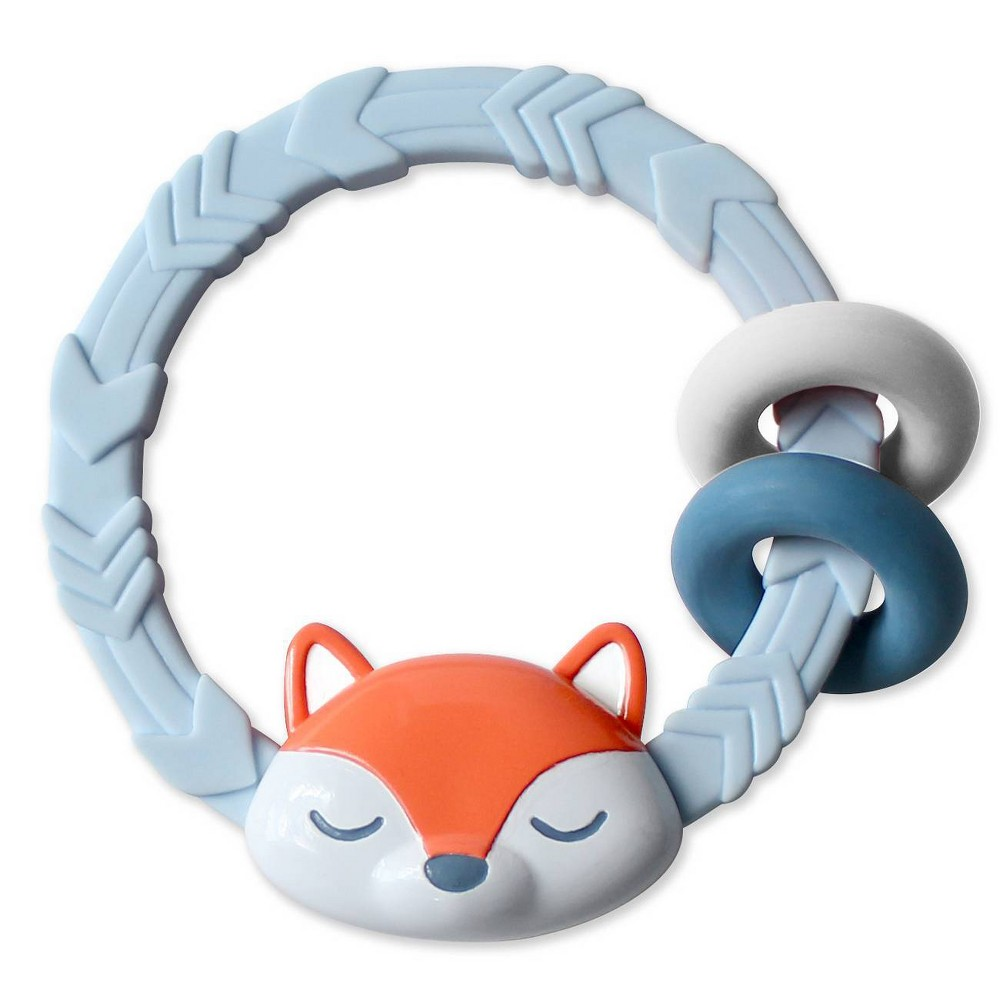 Image of Itzy Ritzy Silicone Teether with Rattle - Fox