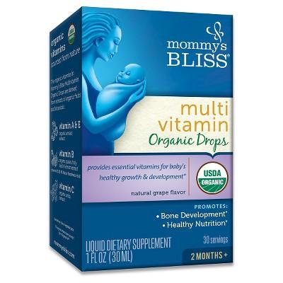 Mommy's Bliss Baby Organic Multi Vitamin Drops - Grape - 1 fl oz