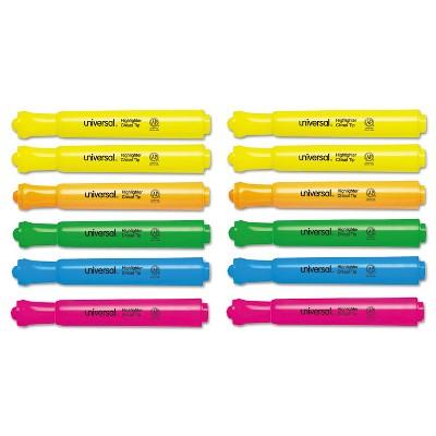 UNIVERSAL Desk Highlighter Chisel Tip Assorted Colors 12/Set 08867