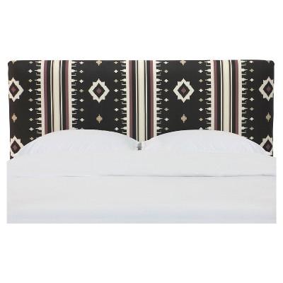 Olivia Upholstered Headboard - King - Sandro Raisin - Skyline Furniture